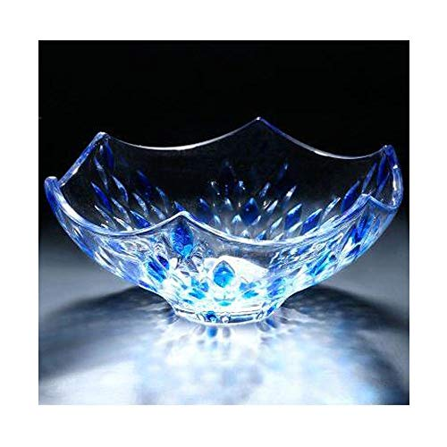 HENT Living Room Decoration, Crystal Glass Rain Flower Fruit Plate Decoration, Multi-Function Home Living Room Tabletop Decoration Toy Home Office Table Decoration Gift (Size : 2410cm, Style : B)
