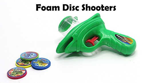 Gun Shooting Foam Sport Blasting Shooter Gun Amazingly Shooting Disc Up To 20 Feet! Manufactured by Toy Cubby pack of 2 guns -