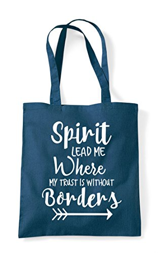 Tote Is To Shopper Borders Spirit Petrol Where Statement Lead Trust Bag Without Me My vwq6wYE