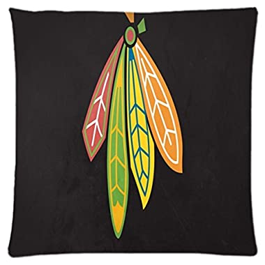 Chicago Blackhawks ~ Durable Unique Throw Square Pillow Case 18X18 inches Fashionable Diy Custom Personalized Pillowcase Design by Engood