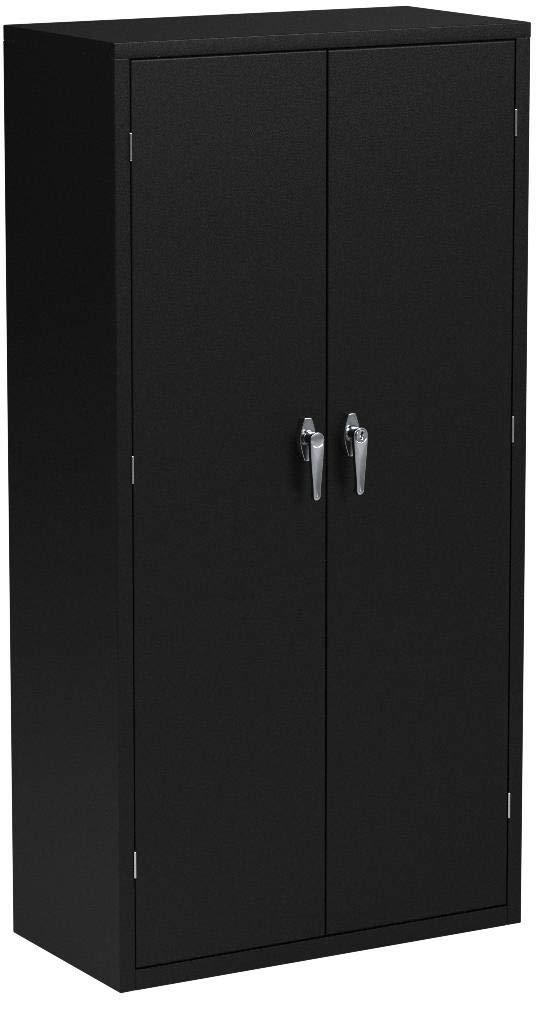 HON Brigade Series Five-Shelf Storage Cabinet - High Storage Cabinet, 36w by 18d by 72h , Black (HSC1872) by HON