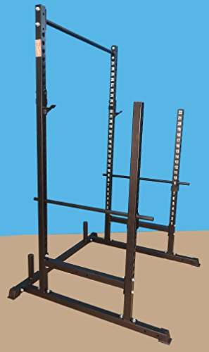 "Power, Squat & Open Rack Station, with solid steel Safety bars, 1.25"" Dia Professionally Knurled Pull Up Bar"