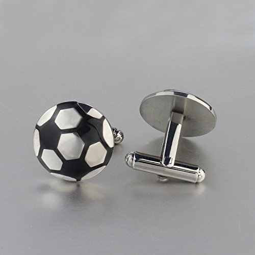 Sport Titanium Cufflinks (AnaZoz Jewelry fashion football design men's cufflinks shirt sports cuff link)