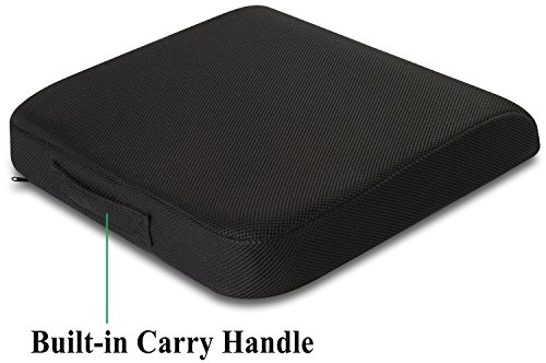 Extra-Large TravelMate Seat Cushion with Specially Designed Non-Slip Cover to Prevent it from Sliding Even on Polished Marble Floor (Size: 19 x 17 x 3 inches)