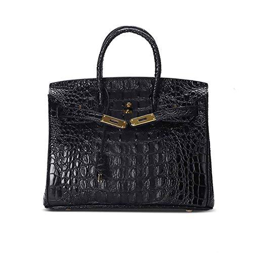 Sac à Mode à black WWAVE Main Classique diagonales Seule Gold Sac S Cuir modèle Platinum Sacs pour épaule Dames Crocodile de en d'OS Main wAx6z5qx0
