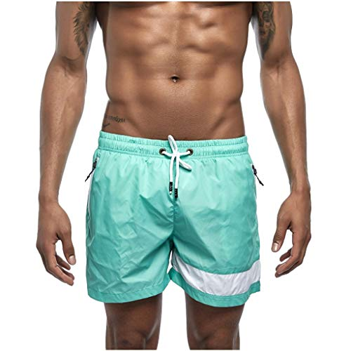 Mwzzpenpenpen Men's Summer Pure Color Sports Shorts Beach Quickly Dry Trunks Fashionable Lightweight Big Loose Pants