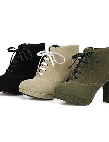 Vestido 10 Cn42 Moda us9 Botas Negro Tacón Zapatos De Punta Black Sintético Eu41 La A 5 Eu40 Redonda U 5 Uk7 Casual Ante Green Robusto us9 Mujer Cn41 Uk7 Beige 8 Xzz 4WPRcnq4