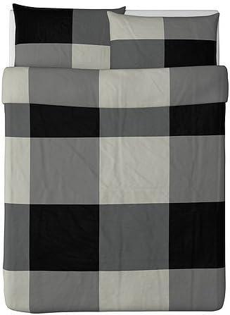 Amazon.com: Ikea Brunkrissla Duvet Cover and Pillowcase, Black