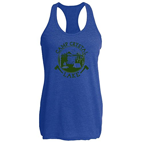 Pop Threads Camp Crystal Lake Retro Movie Womens Tank Top