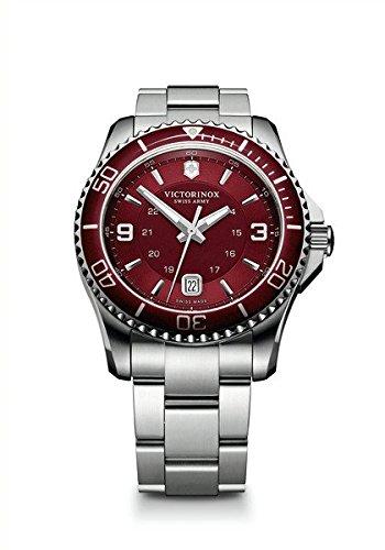 Victorinox Swiss Army Maverick 241604 - Reloj analógico de cuarzo para hombre, correa de acero