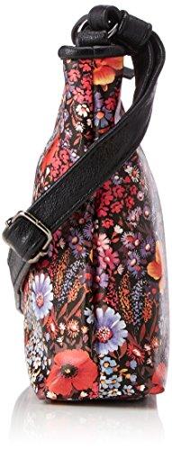 Shoppers Negro bolsos Mujer y hombro Schwarz Denim de Tom Flower Tailor Mila wIpIv4