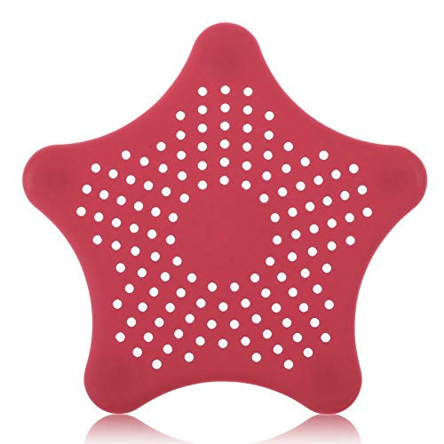 Ameglia Bathroom Drain Hair Catcher Bath Stopper Plug Sink Strainer Filter Shower Covers (Color - Red) ()