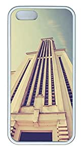 iPhone 5 5S Case Skyscraper Architecture672 TPU Custom iPhone 5 5S Case Cover White