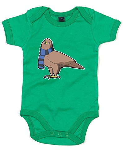 [House Mascot: Eagle, Printed Baby Grow - Kelly Green/Transfer 6-12 Months] (Ravenclaw Mascot)