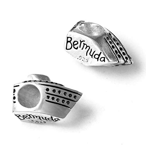(Bermuda Cruise Ship - 925 Sterling Silver Charm Bead Fits Bracelets like Pandora - Perfect Vacation Souvenir and Gift)