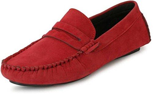 Buy VR Rapid Velvet Red Loafer Shoe for
