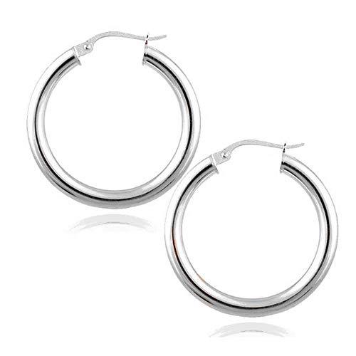 Verona Grande (Verona Jewelers 925 Sterling Silver 2MM Hoop Earrings- Unisex French Lock Hoop Earrings 10MM-80MM (18MM))