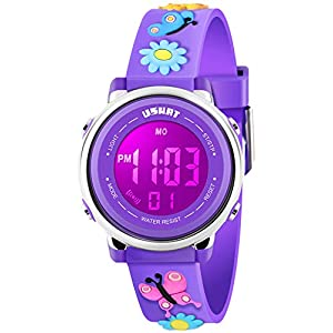 Kids Watch 3D Cartoon Toddler Wrist Digital Watch Waterproof 7 Color Lights with Alarm Stopwatch for 3-10 Year Boys…