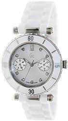 GUESS GC DIVER CHIC Diamond Dial White Ceramic Timepiece
