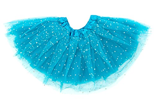 Dancina Tutu Cute Little Girls Fluffy Glitz Recital Ballet Dance Costume 2-7 Years Turquoise (Little Stars Dance Costumes)