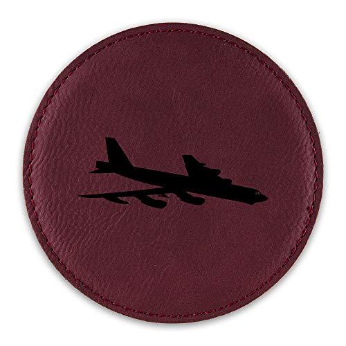 B-52 Stratofortress Drink Coaster Leatherette Round Coasters bomber b52 V1 - Rose - One Coaster ()