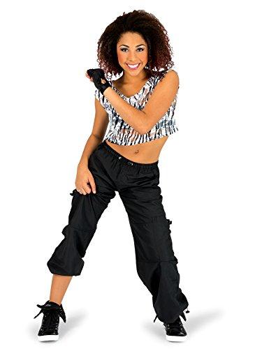 Natalie Dancewear Adult Unisex Cargo Pants with Drawstring Waist BP104BLKXL Black XL