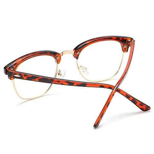 C5 de SOJOS polarizadas Dorado SJ5018 Demi lente Gafas Clubmaster transparente sin sol montura Marco Semi 55TWPtwrqx