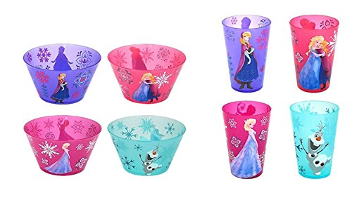 Disney Frozen Snack Set Melamine Bowls and Cups