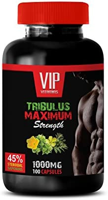 libido and Testosterone - TRIBULUS TERRESTRIS Maximum Strength - 45% STEROIDAL SAPONINS - tribulus terrestris - 1 Bottle (100 Capsules)