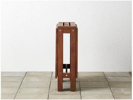 Ikea applaro drop-leaf folding wood table brown seats 2 - 4