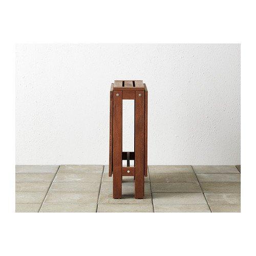 Amazoncom Ikea Applaro Drop Leaf Folding Wood Table Brown Seats 2
