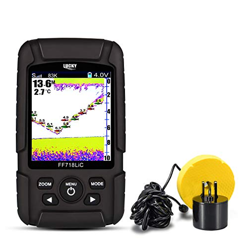 Lucky Fish Finder for Ice and Kayak fishing with Dual Frequency