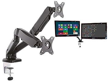 2-arm MESA für 2x Monitor PC TV FLATSCREEN Pantalla ...