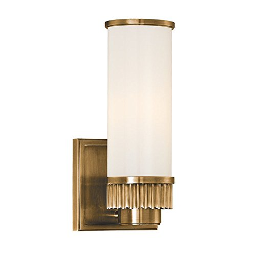 Hudson Valley Lighting 1561 Agb 1 Light Bath Bracket Aged Brass Finish