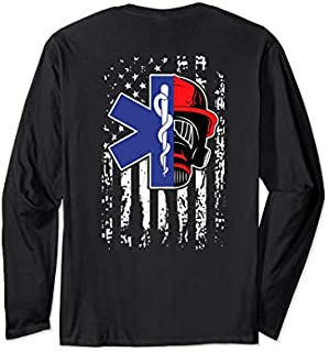 [Featured] EMT Firefighter Paramedic Firefighter Gift EMS Back Print Long Sleeve in ALL styles | Size S - 5XL