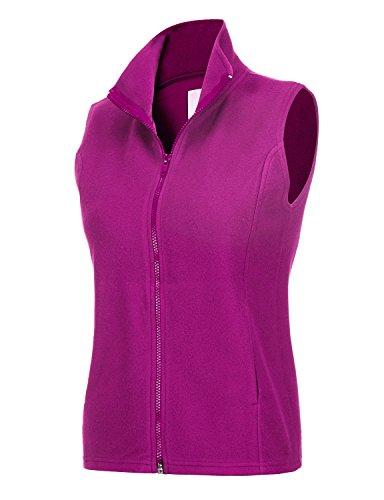 REGNA X Women's Microfleece Benton Full Zip up Fleece Vest Jacket Pink S Polyester Microfleece Vest