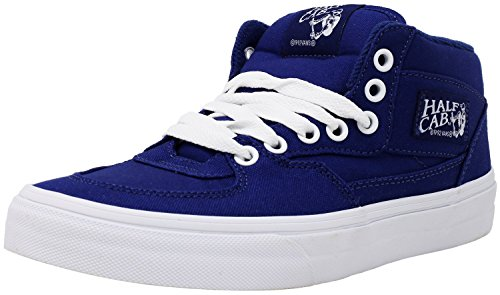 Vans Half Cab Canvas Blueprint/True White Mid-Top Skateboarding Shoe - 8.5M 7M (Blueprint Footwear)