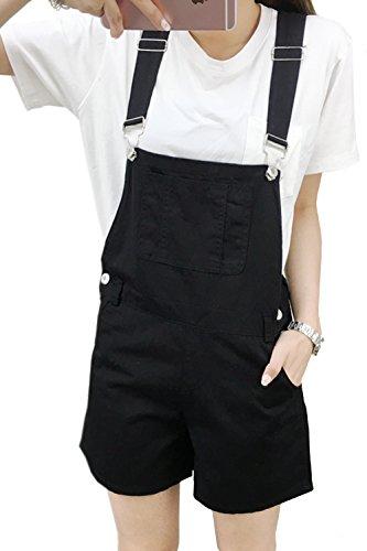 Donne Solido Pantaloncini Fasumava Le Black Jeans Cotone Salopette Estate Di Beachwear Casual Tx5v8wOxn