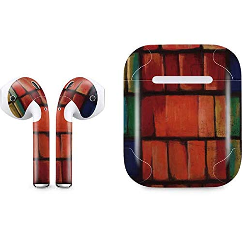 (Skinit Stained Glass Apple AirPods Skin - Original Skinit Studios Designed Audio Sticker - Thin, Case Decal Protective Wrap for Apple AirPods Gen 1)