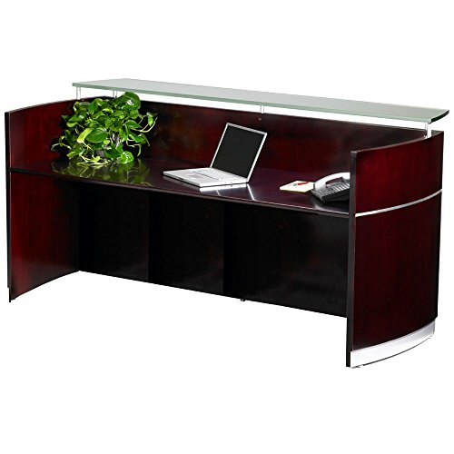 - Napoli Glass Counter Reception Station - 87.25