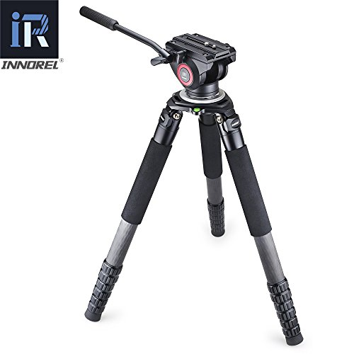 RT90C Carbon Fiber Camera Tripod Professional Video Fluid Head 40mm Tube Hollow Flange Design 40kg Bear for DSLR Camcorder (Hollow Bear)