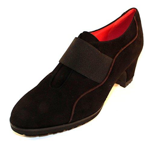 Pas De Rouge Womens Lucia 1319 In Black/Brown Suede - Size 38 M 1cPC7