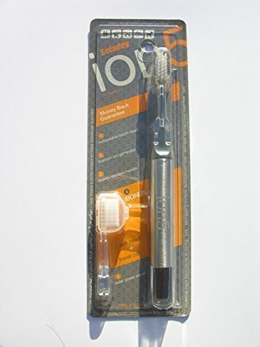 Grey Soladey Ion5 Light Activated Ionic Toothbrush with S...