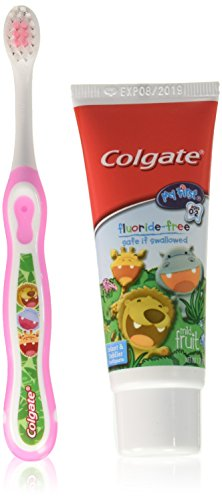 Colgate My First Baby and Toddler Fluoride Free Toothpaste and Toothbrush