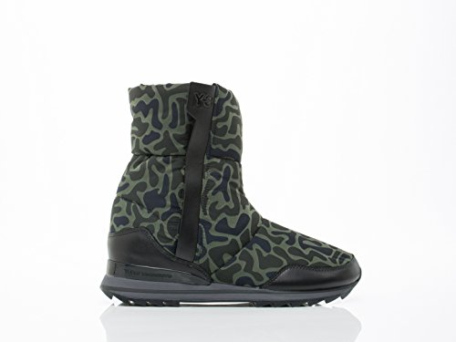 Y-3 Women's Rhita Winter Zip Boots, Graphite/Black, 8 M US
