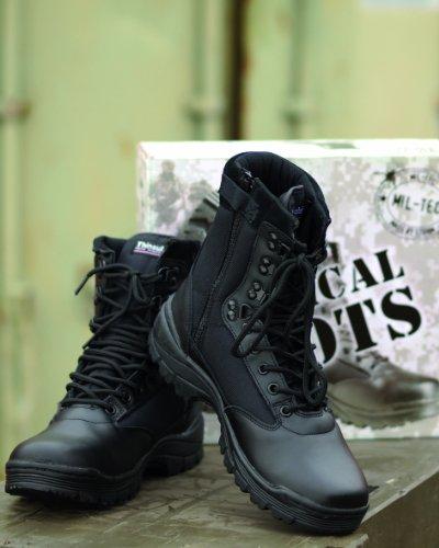 Mil-Tec Tactical Side Zip Botas Negro Negro