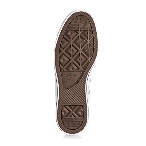 Converse Chuck Taylor All Star - doble lengua zapatos blanco/oro/blanco Blanco blanco Talla:UK 06 Blanco - blanco
