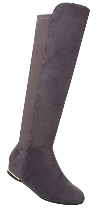 Schuhe Keil Damen Wedges Stiefel Damen QrshCodtxB