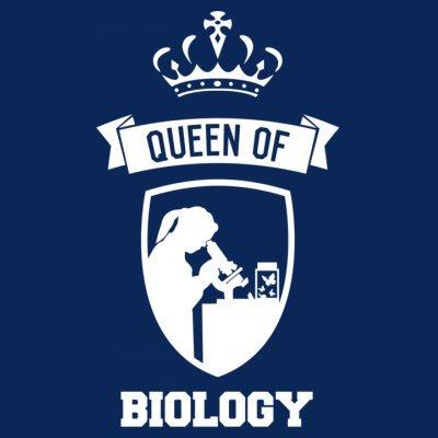 Sudadera con capucha de mujer Queen Of Biology by Shirtcity Azul marino
