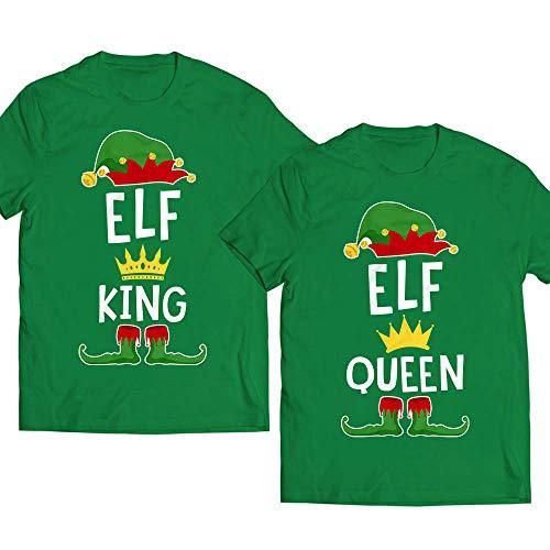 Elves-Costume Elf-King Elf-Queen Crown Matching Couple Pajamas Christmas Gift Present Customized Handmade T-shirt/Hoodie / Sweater/Long Sleeve/Tank Top/Premium T-shirt